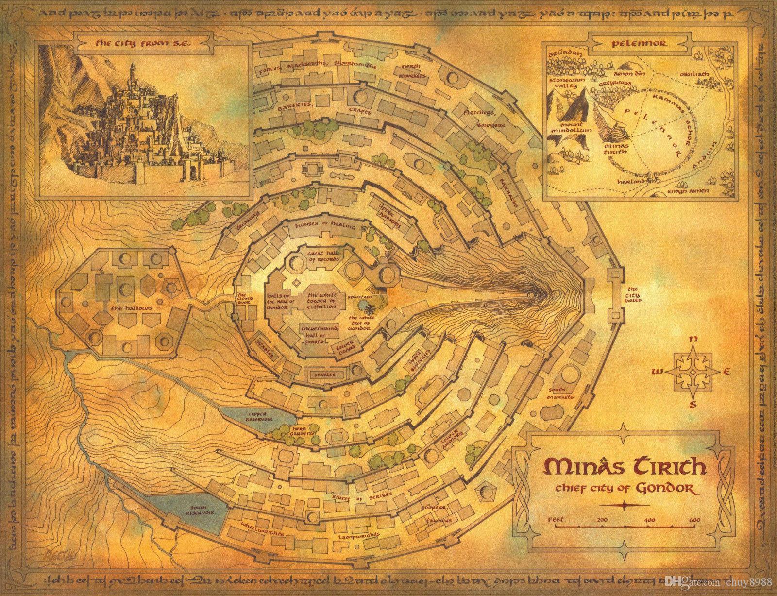 Mittelerde Karte Herr Der Ringe.Mittelerde Der Herr Der Ringe Karte Art Silk Print Poster 24x36inch 60x90cm