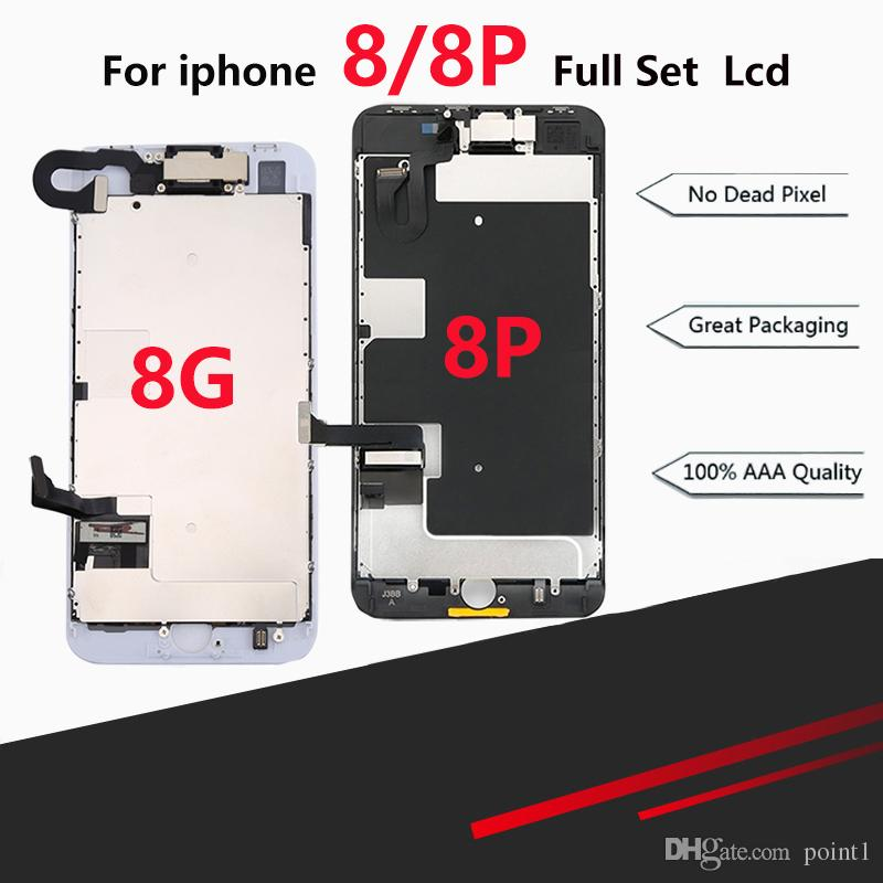 new style 8d80b eae16 Premium Full LCD Assembly For iPhone 8 8 Plus Full Display with 3D Touch  Screen and Front Camera Home Button Spare Parts