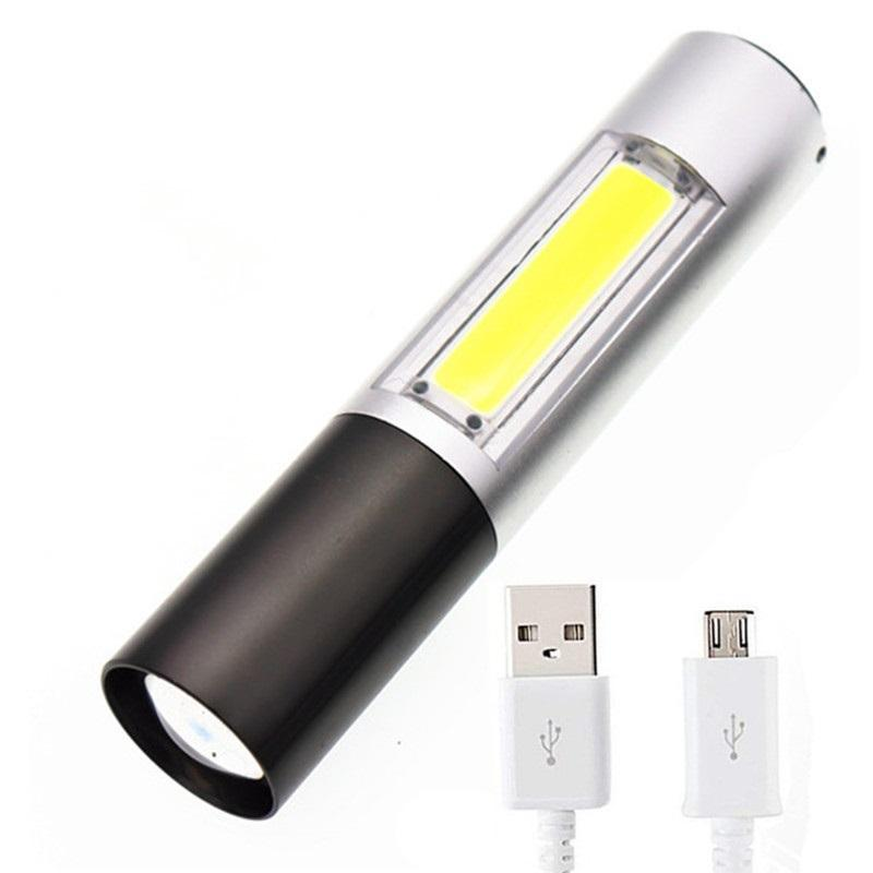 OUTDOOR WATERPROOF USB CHARGE PORTABLE LIGHTER LED FLASHLIGHT CAMPING TORCH LAMP