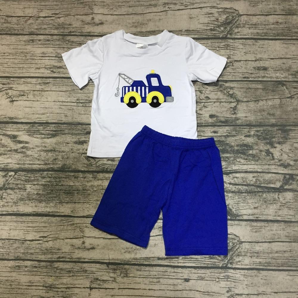 7030f7ea5 2019 New Arrivals Summer Baby Boy Clothes White Top Navy Shorts Sets ...