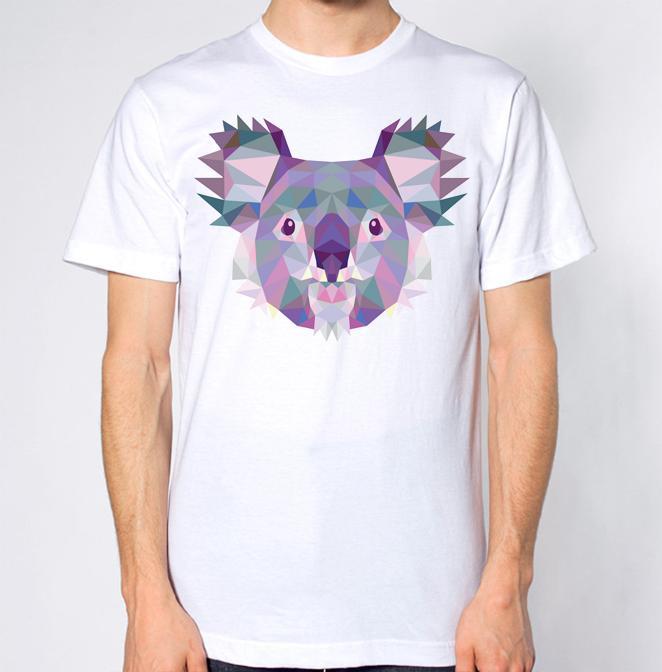 f56cb723cfc Koala Geometric T Shirt Short Sleeve Plus Size T Shirt Colour Jersey Print  T Shirt T Shirt With A T Shirt On It Best Deal On T Shirts From  Happyalltee