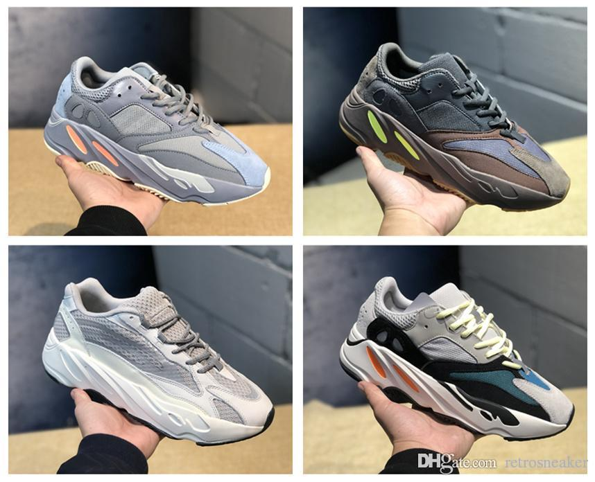 premium selection ad022 a20f6 Wholesale 700 Inertia Kanye West Wave Runner Mauve 700 Mens Women Authentic  700s Static 3M Reflective Sports Running Sneakers Shoes