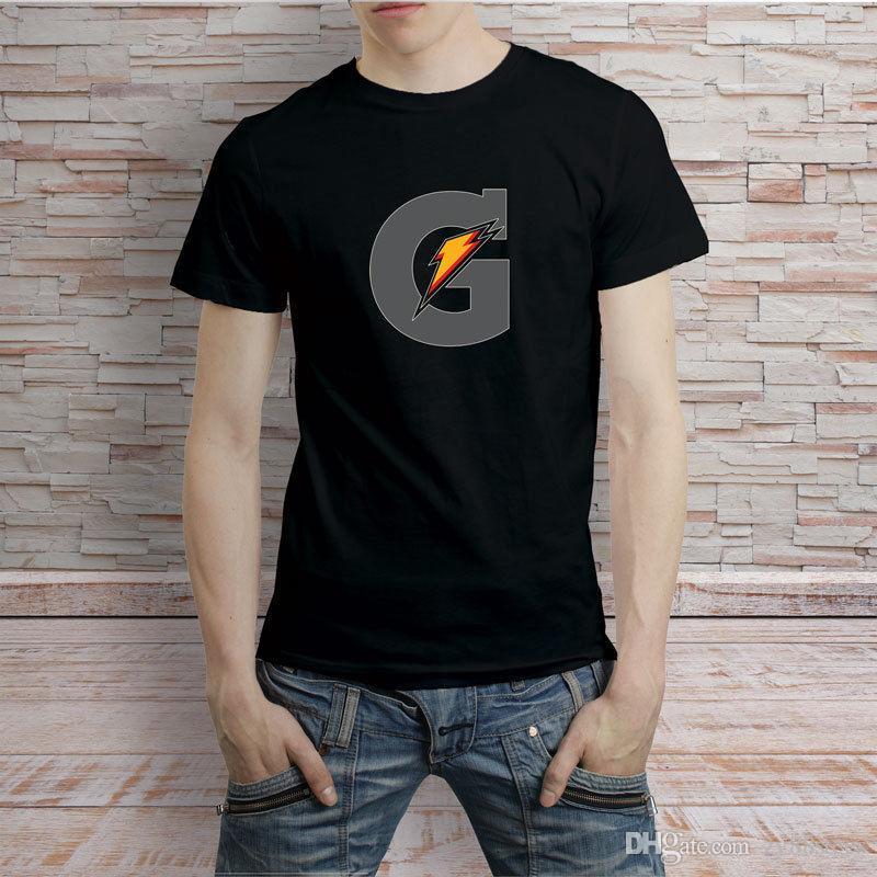 0b98bd1b86f Gatorade Logo Black And White T-Shirt Men's Tee T Shirt Men Vintage Short  Sleeve Cotton Custom Big Size Couple Tshirts