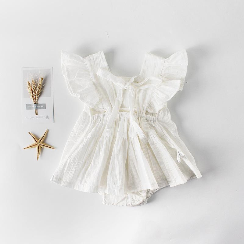 dafa9961565 2019 2019 Summer New Arrival Newborn Baby Girls Ruffle Bowknot Backless  Romper Backcross Jumpsuit Outfits Sunsuit Baby Clothes Outfit From  Victorys08