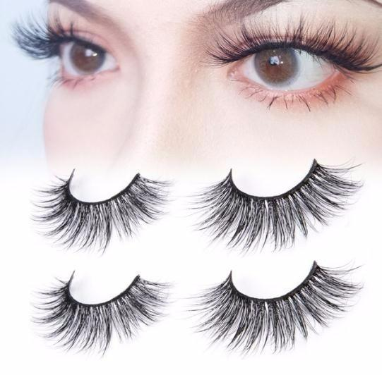 100% 2 Pairs Eyelashes Extension Natural Long False Eye Lashes Hand Made Full Strip 3d Fake Eyelashe Makeup