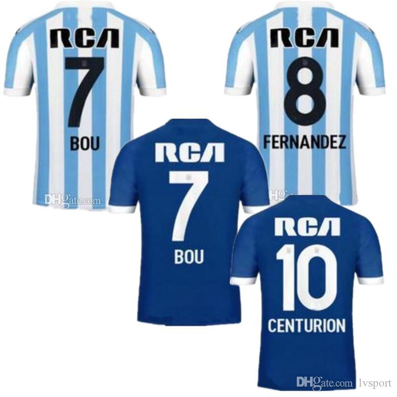 18 19 Argentina Racing Club De Avellaneda Camisetas De Fútbol Local 2019  Racing Club Visitante 3RB Bou 7 Fernández 8 Centurión 10 Camisetas De  Fútbol Por ... 39d9ea7d2177f