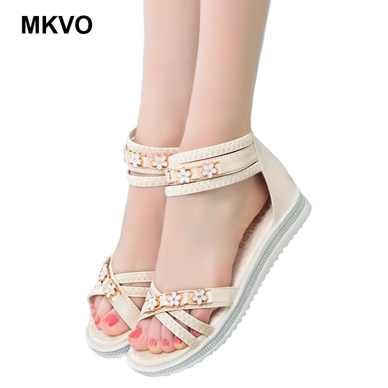 89bab5bd2e53 2019 женские сандалии на плоской подошве женские плетеные сандалии на  плоской ...