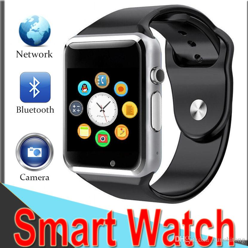 3db3a11ec43ac Reloj Smartwatch SmartWatch A1 Apple Watch Bluetooth SmartWatch Reloj De  Pulsera Sport Podómetro Llamadas Con SIM Cámara Reloj Inteligente Para  Android ...