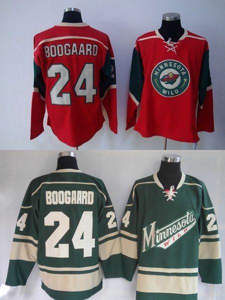 fadaa9a2 Cheap Mens Minnesota Wild Ice Hockey Jerseys Home Red Green #24 ...