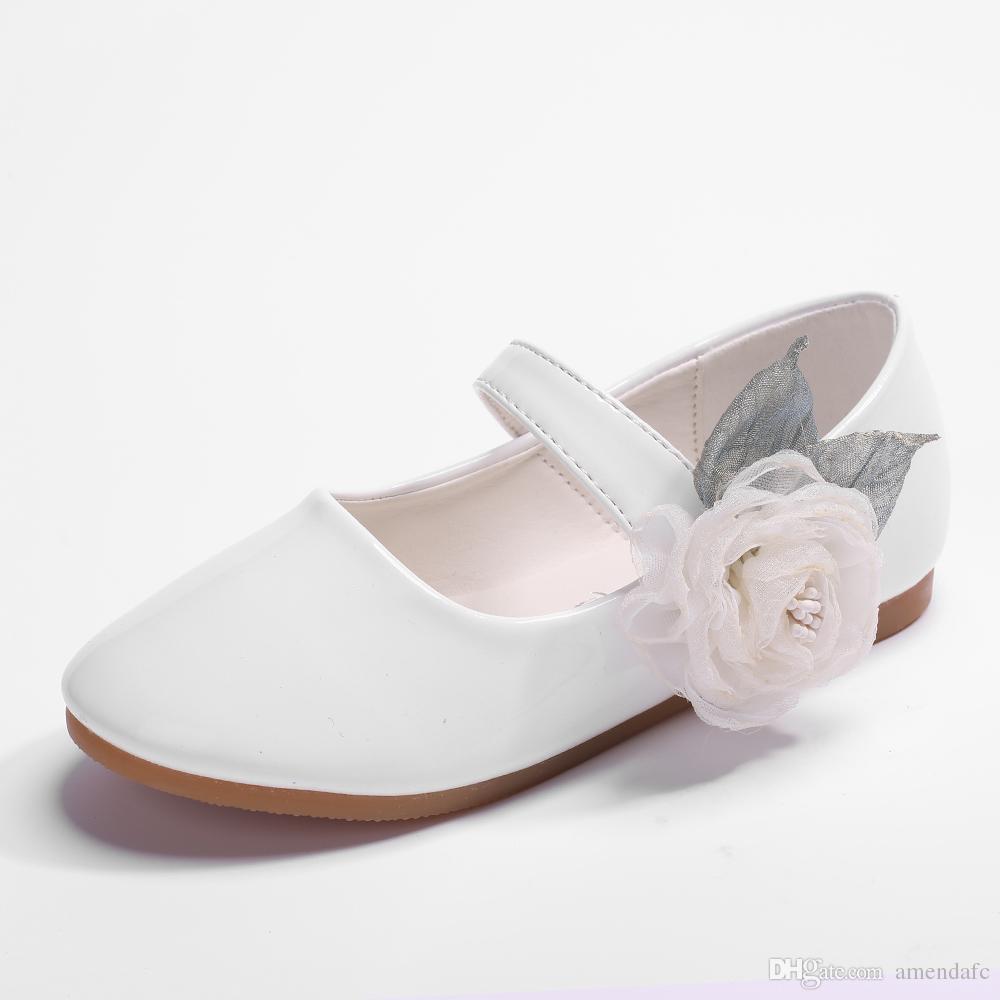 23f97e6e604e6 New Korean version of children flower dress shoes girls stage show single  shoes white pink princess shoes