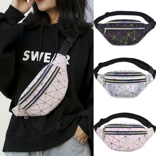 5f035b731fe2 Fashion 2019 Women's Fanny Pack PU Laser Pouch Travel Purse One Shoulder Waist  Chest Bag Hip Bag Punk Sport Zipper Waist Packs