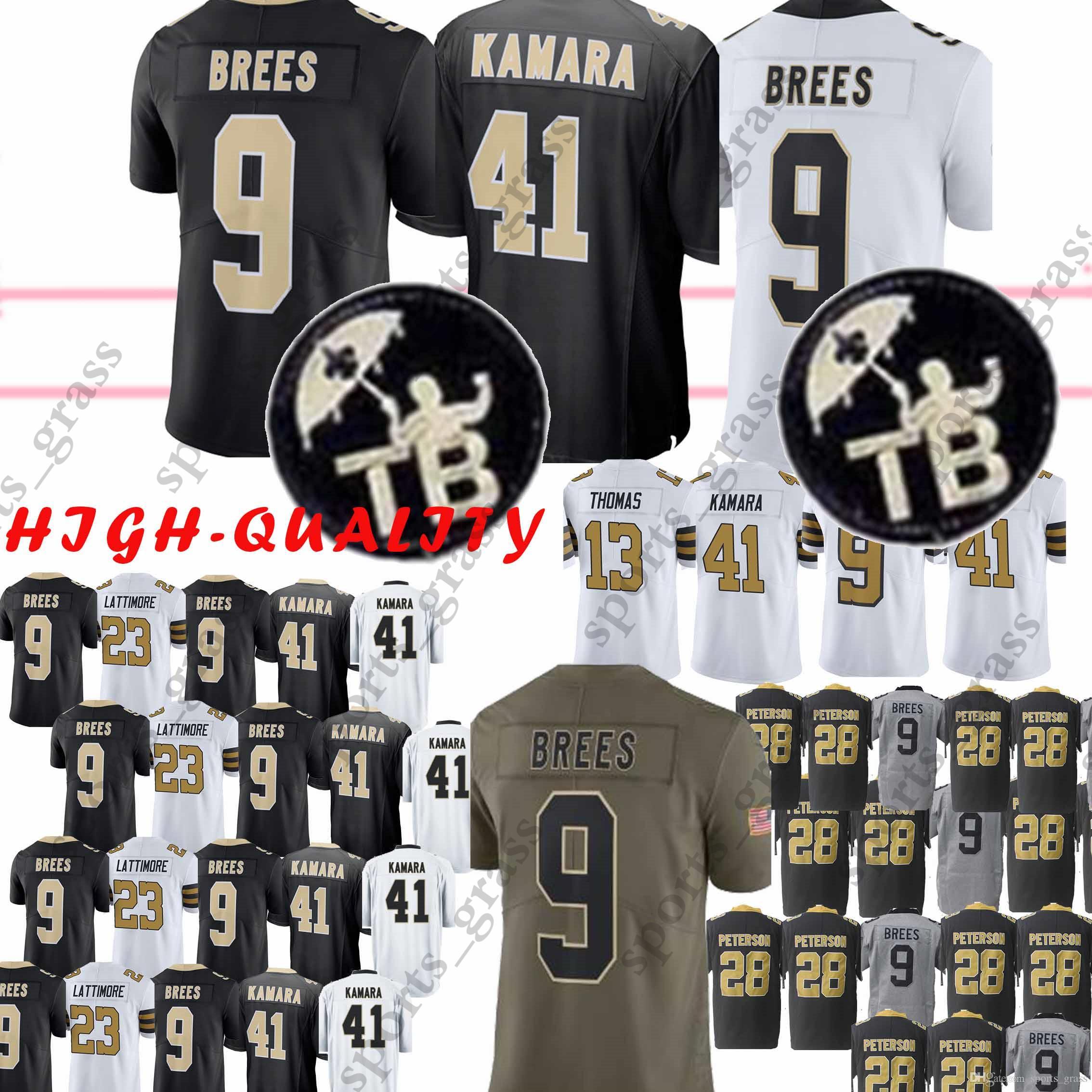 9ade12a9c 41 Alvin Kamara 9 Drew Brees New Orleans Saints 13 Michael Thomas 23 ...