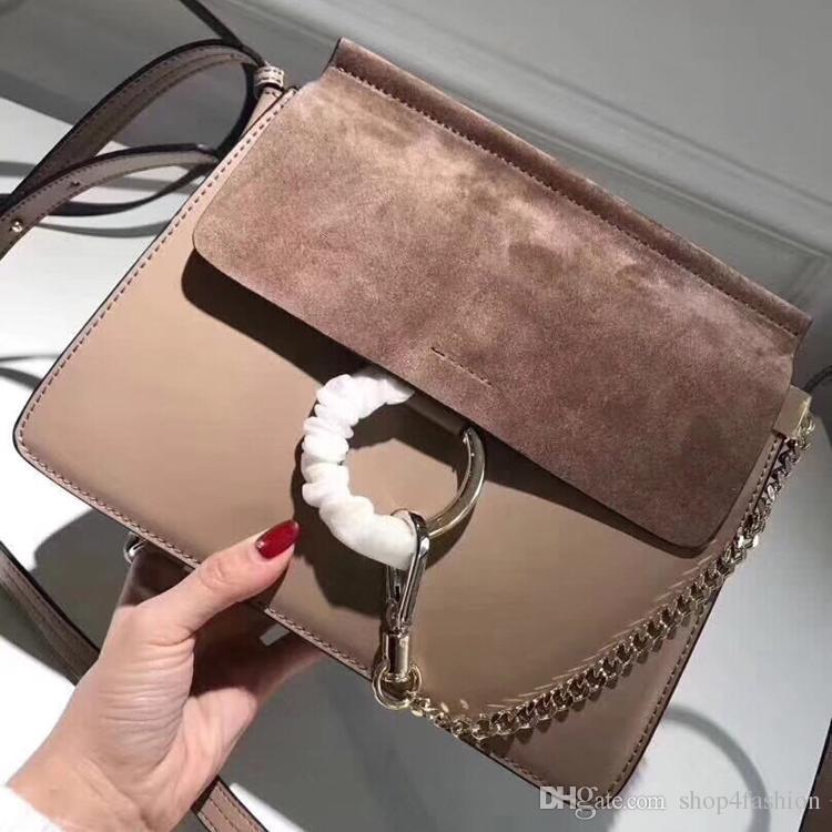 dee3de4a97d Famous Shoulder Bags Women Luxury Brand Real Leather Chain Crossbody Bag  Handbags Famous Circle Designer Purse High Quality Female Crossbag Black  Handbag ...