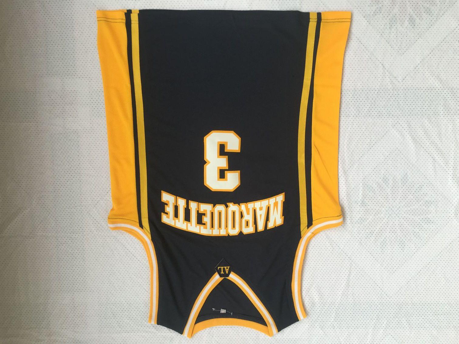 176d882e05a NCAA Men Cheap Basketball Jerseys 3 Dwyane Tyrone Wade MARQUETTE ...