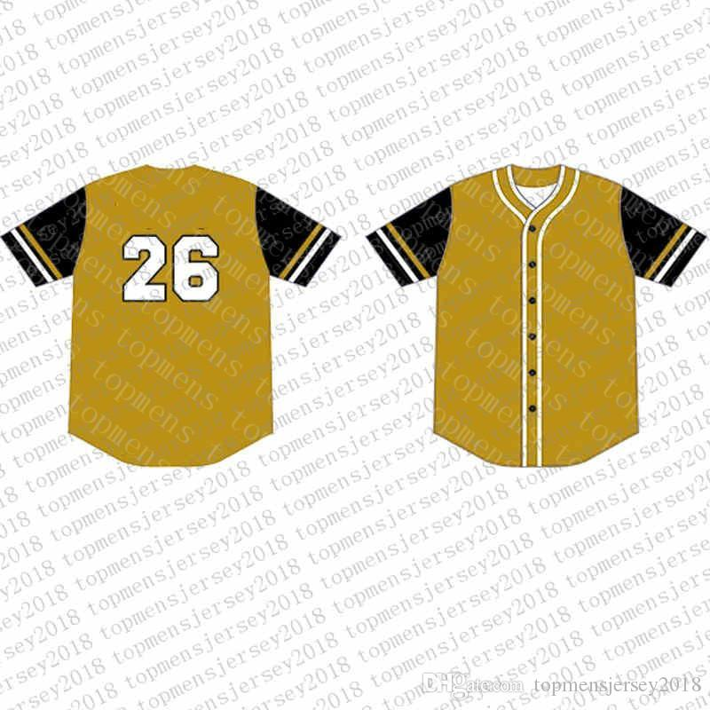 Top Custom Baseball Jerseys Mens Embroidery Logos Jersey Free Shipping Cheap wholesale Any name any number Size M-XXL 41