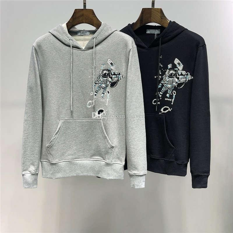 2019 FW New Arrival Top Quality Brand Designer Valen Print Men's Clothing Street Hoodies Long Sleeve Sweatshirts M-3XL 2430