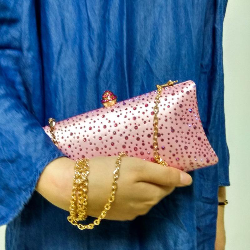 Soirée cristal étincelant cristal embrayages femmes avec strass sacs à main de mariée de mariage boîte d'embrayage sac sacs à main sac à bandoulière