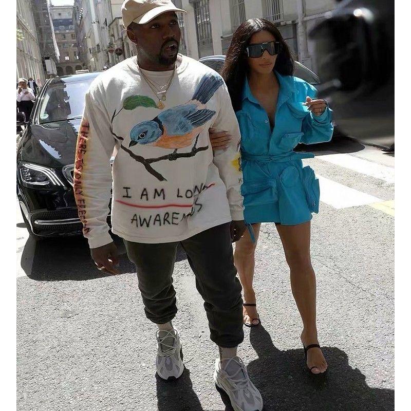 53a24eff54754 Kanye West Season6 Wes Lang Bird Tee Sweatshirts Old School Fashion Hip-hop  Top Sport Men Women Fashhion Sweatshirt HFTTWY114