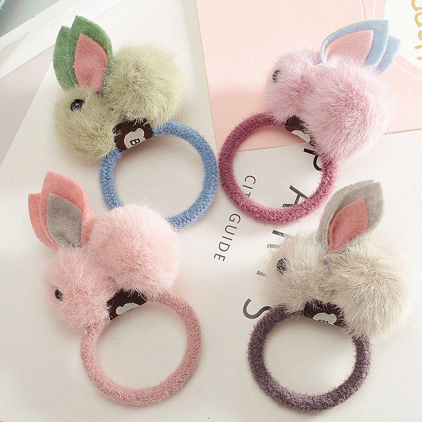 Boutique Cute Rabbit Hair Ties Solid Fur Pom Pom Bunny Elastic Hair Bands  Princess Headware Fashion Hair Accessories Hair Accessories For Girls  Online ... 28cccd78eaa