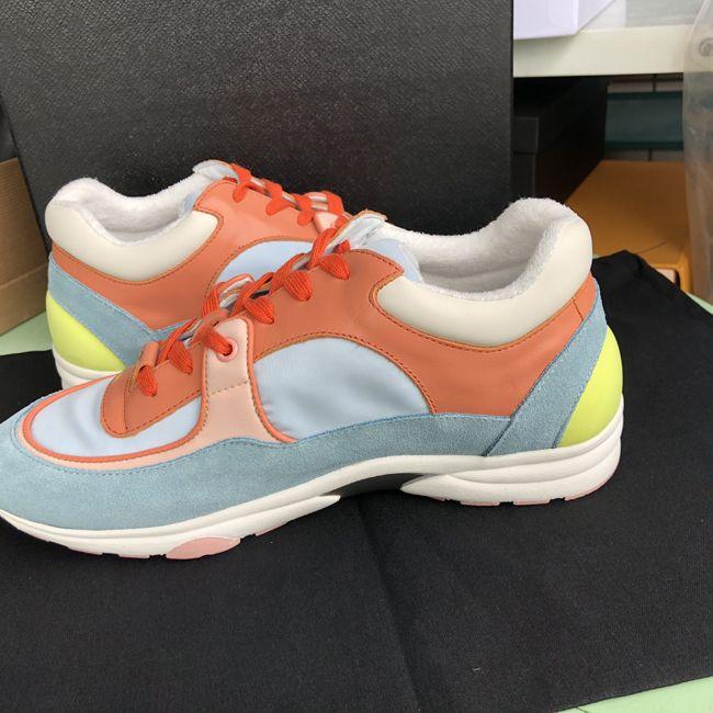 54851da9d 2019 New Color Brand Shoes Original Fashion Logo Sneakers Men Women Leather  Flats Luxury Designer Runner Trainers Sport Shoes 35 45 Purple Shoes Scholl  ...