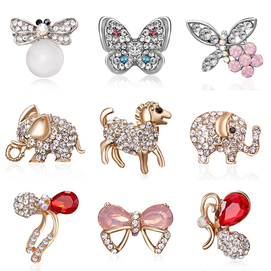 8fb1b0abc5 Vintage Rhinestone Brooch Bee Cat s Eye Animal Love Animal Small Brooch  Women Bridal Wedding Pin Party Jewelry Gifts