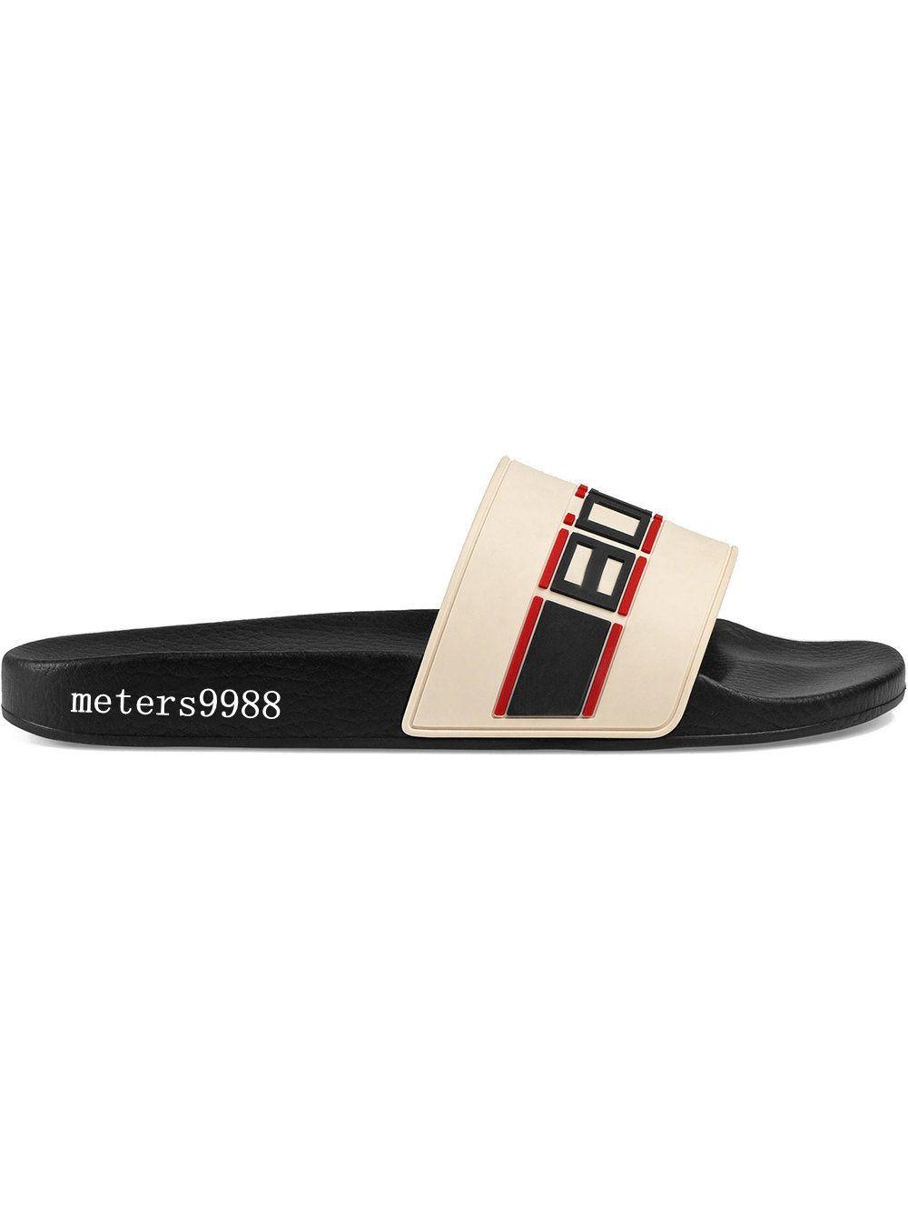 e9df178add2 Compre Gucci Moda Creme Branco Sandálias De Slides Mens E Mulheres ...