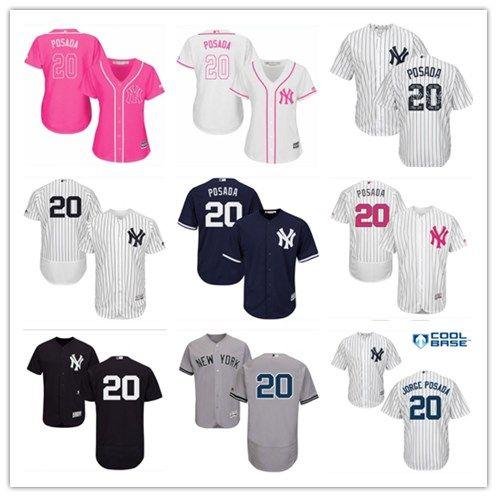 2019 2018 Top New York Yankees Jerseys  20 Jorge Posada Jerseys  Men WOMEN YOUTH Men S Baseball Jersey Majestic Stitched Professional  Sportswear From ... 1107c37d063