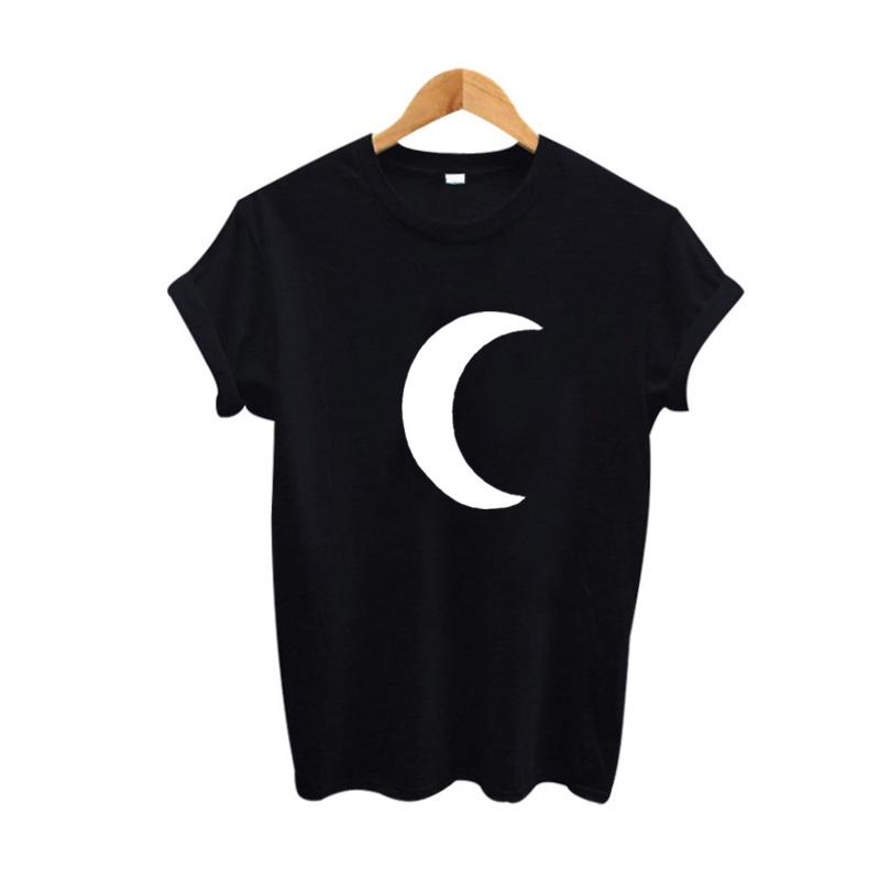 95dfec7e Moon Graphic Tees Women Harajuku Funny T Shirts Summer Cute Women T Shirt  Punk Clothes 2017 Fashion Tops Tee Shirt Femme Latest Designer T Shirts  Coolest ...