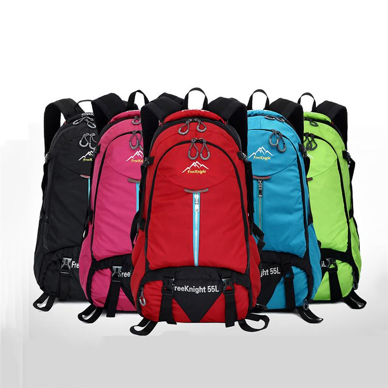 f43bcf129a3e 55L Outdoor Travel Backpack Sports Bag Camping Hiking Rucksack Students  Backpack Laptop Backpacks