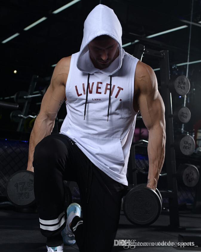 Running breathable vest men summer training tights hooded vest new fashion exercise cotton hooded vest running sportswear