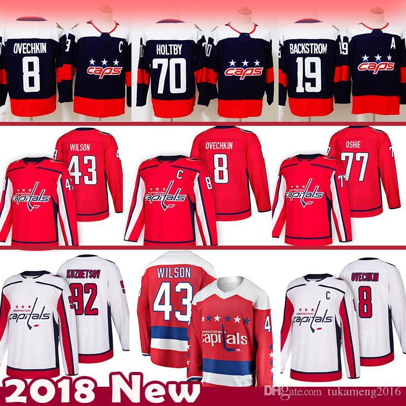 2019 8 Alex Ovechkin 43 Tom Wilson Washington Capitals Hockey Jersey 92  Evgeny Kuznetsov 77 TJ Oshie 70 Braden Holtby 19 Nicklas Backstrom From  Tukameng2016 ... 1f3b621c8