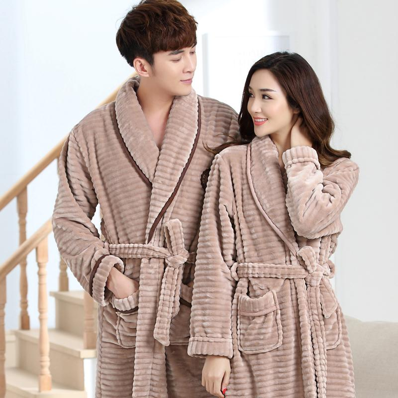 4fbc8e00f53d 2019 J Q New Couple Matching Pajamas Leisure Winter Pajamas Men And Women  Home Wears Thick Bathrobes Terry Robes Soft Flannel Robes From Redbud01