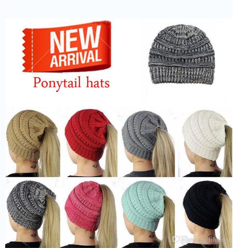 eefe3259cb9 Ponytail Hat Women S Crochet Winter Warm Hat Women S Knit Hat Beard Beanie  Beanie Kids From Lihaoyx
