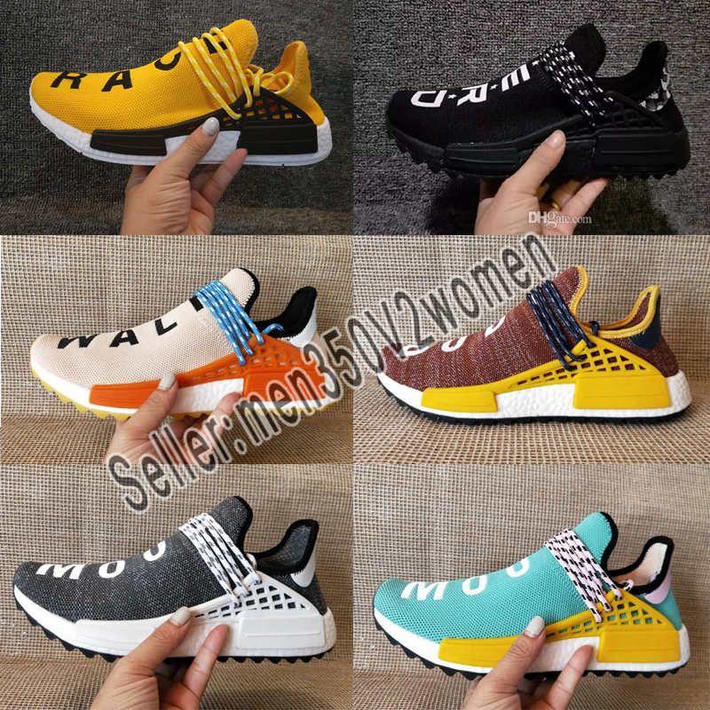 de3ff47a19f8d 2019 Human Race NMD Running Shoes Pharrell Williams Hu Trail Oreo Nobel Ink  Black Nerd Designer Sneakers Men Women Sport Shoes 2019 NMD Human Race Mens  ...