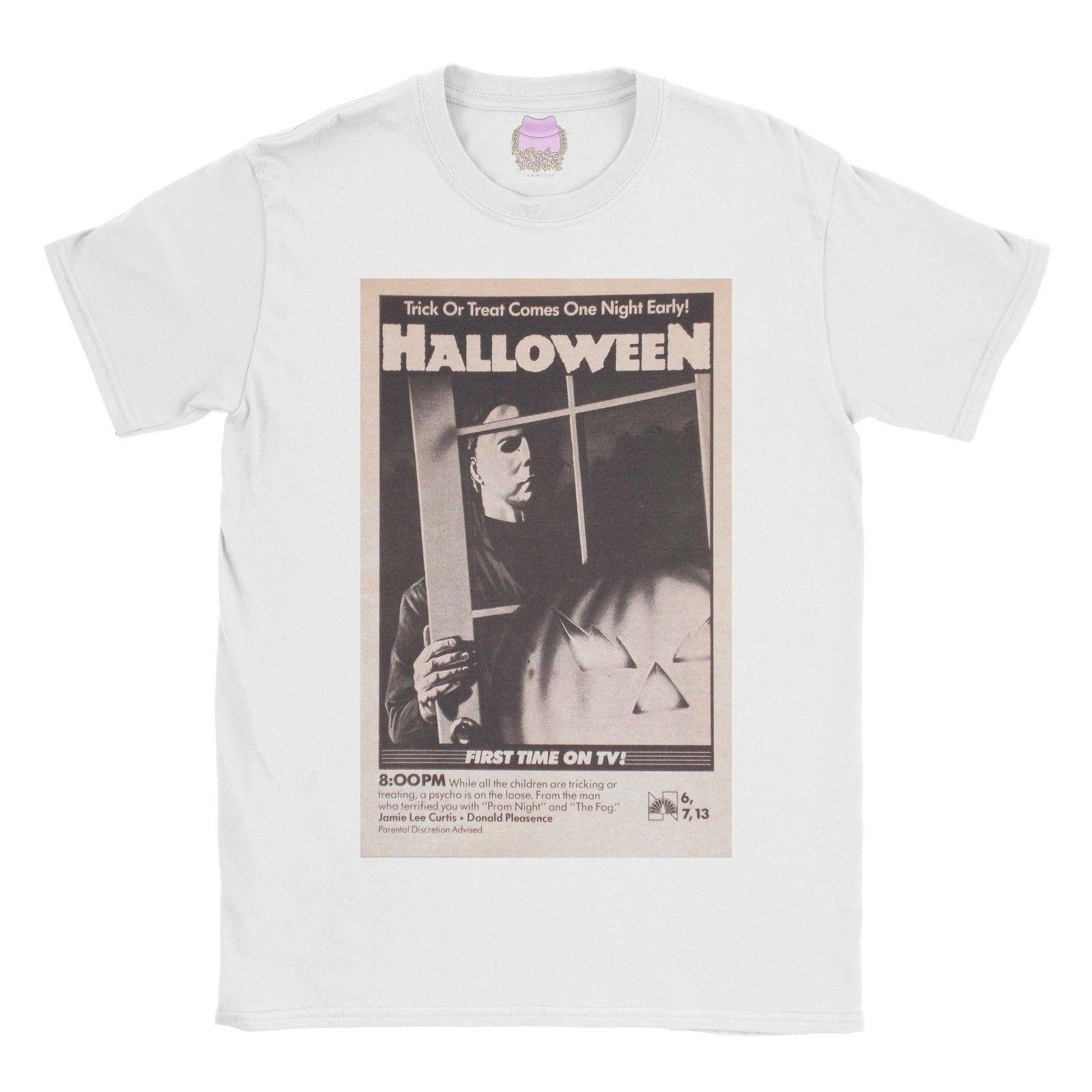 2d12f55a3e8411 Halloween Vintage T Shirt Horror Gothic Poster Movie Tshirt Tee Top Old  School Funny Unisex Cheap T Shirts Online Biker T Shirts From  Clothing_deals, ...