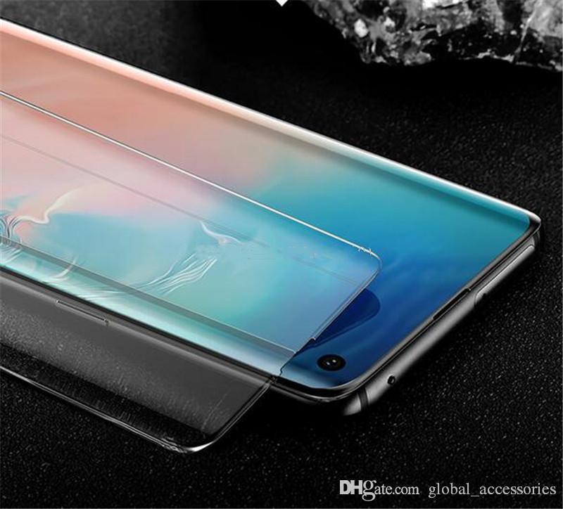 Liquid Glue Case Friendly UV Tempered Glass Full Adhesive fingerprint friendly Screen Protector For Samsung S10 E Note 10 9 S9 Plus