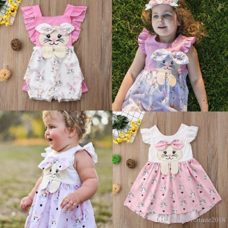 8f02ce81b921c Baby Easter Bunny Rabbit Clothing Sister Matching Clothes Big Sister Dress  Little Sister Rompers Easter Sisters Outfit