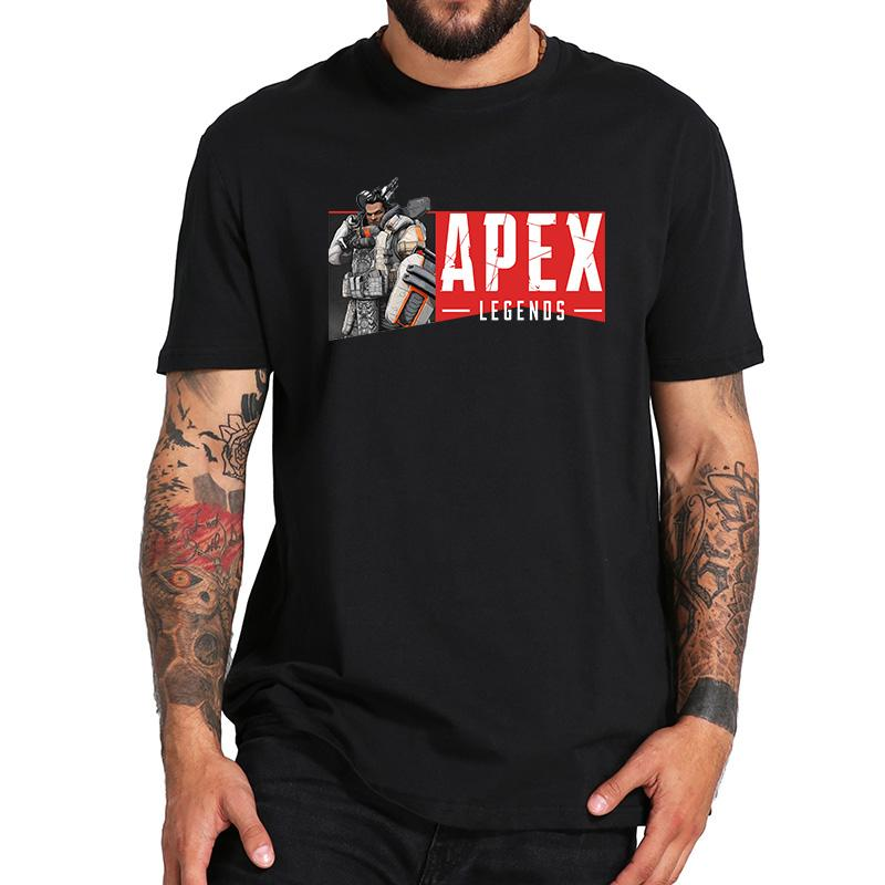 8592f2761c2 Apex Legends Tshirt Gibraltar Bloodhound Hero Figure Printed Shooting Team  Game Homme EU Size Black Cotton Tops Graphic Tee Shirts T Shirt Sayings  From ...