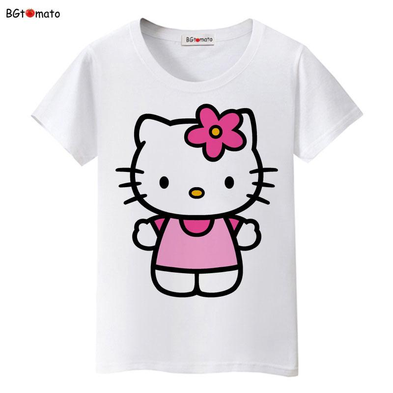 dfd3b1c88cd2 Bgtomato Hello Kitty Lovely Cartoon T Shirts Women Summer Cool Clothes  Brand Good Quality Tops Comfortable Casual Shirts Y190123 Skull T Shirts  Tea Shirt ...