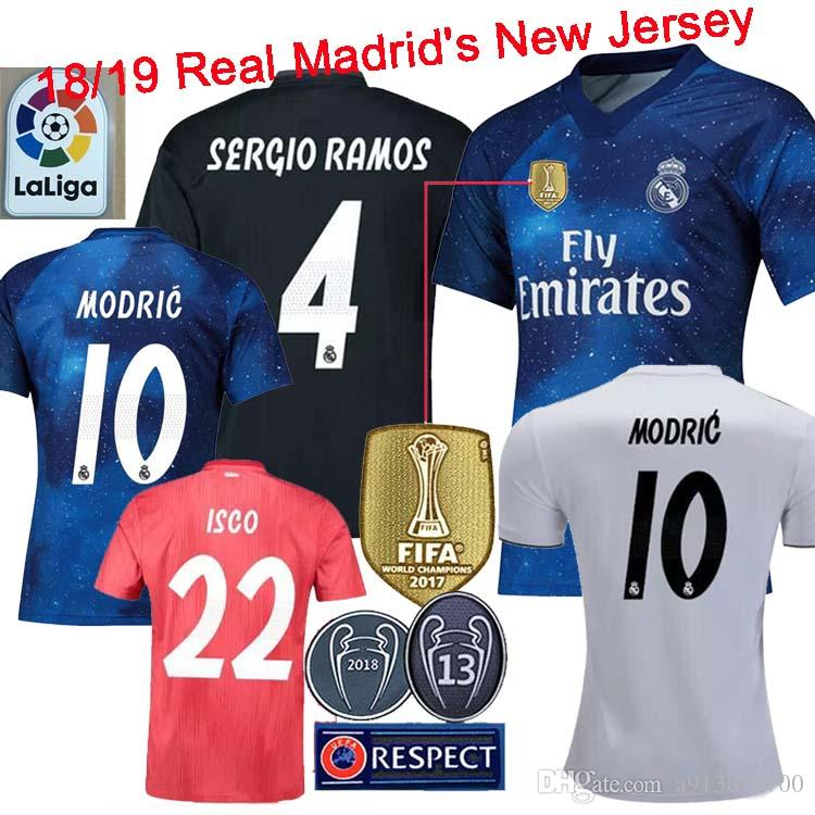 2019 2019 Real Madrid MODRIC ASENSIO BALE ISCO Home Away 3rd Soccer Jersey  RAMOS BENZEMA Shirt 2018 Camiseta Real Madrid Football Kit Jerseys From ... e7499cae8