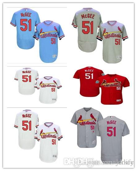 online retailer 39db0 3d700 St. Louis #51 Willie McGee Jersrys Cardinals men#WOMEN#YOUTH#Men's Baseball  Jersey Majestic Stitched Professional sportswear