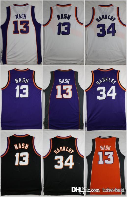 d1b45e4c1 2019 Phoenix Basketball Jerseys 34 Charles Barkley SUNS 13 Steve Nash  Purple White Black Stitched Shirts Basketball Jersey MENS S XXL From Tobe  Best, ...