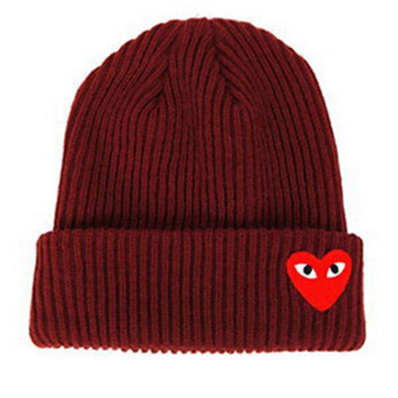 Compre 2018 Mujer De Invierno Cálida Gorras Corazón Ojos Etiqueta De  Dibujos Animados Gorros Sombrero De Punto Toucas Capó Sombreros Sombrero De  Hombre ... 858f54527af