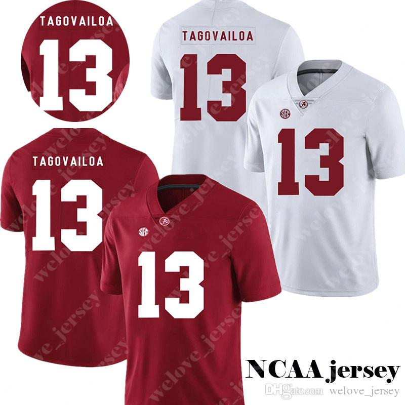 quality design 51096 cd410 Men's NCAA Alabama Crimson Tide 13 Tua Tagovailoa Jersey College Football  jerseys Hot Sale Red White Stitched Jerseys S-3XL