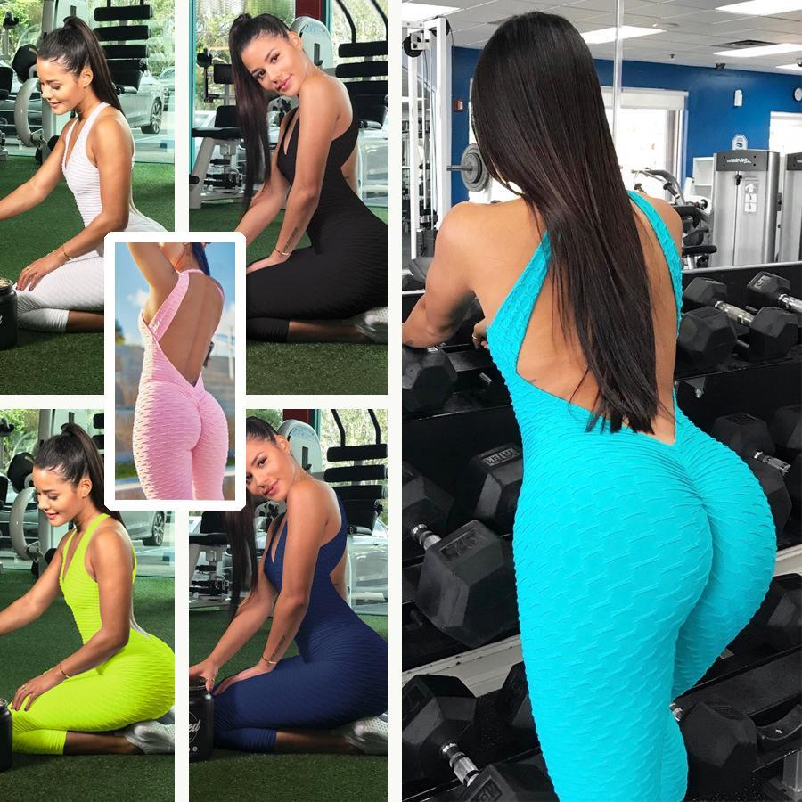 Fitness Clothing Women's One-pieces Sports Suit Set Workout clothes Fitness Yoga Set Sexy leggings Yoga Sport Suit Bandage Gym
