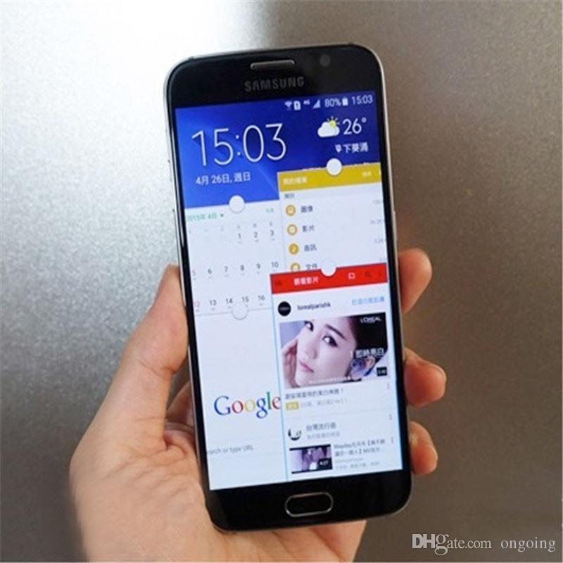 Samsung Galaxy S6 SM-G920 G920A G920F G920V Original Unlocked 3G&4G 16MP Camera Octa Core 5.1inch 32GB ROM 3GB RAM refurbished phone