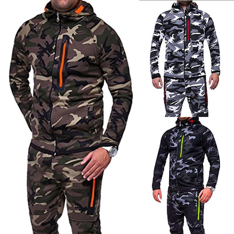 a3063bdd80d CALOFE New Camouflage Running Jacket Men Plus Size Camo Hooded Coats Army  Sports Jacket Men Streetwear Outerwear Online with  29.93 Piece on Bunner s  Store ...