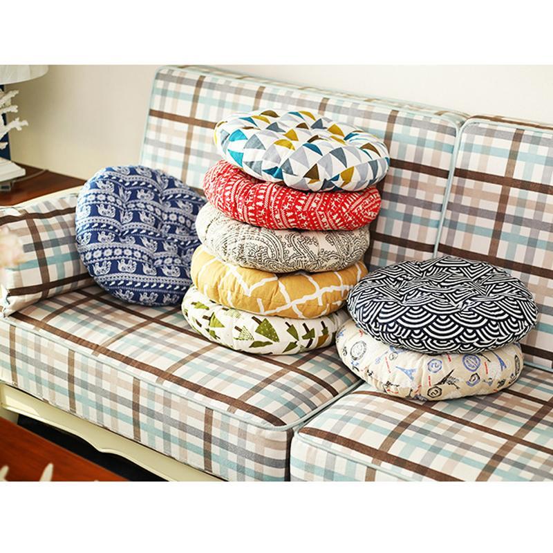 40 40cm Home Sofa Cushion Office Breathable Chair Cushion Cute Round Futon Mat Cushions Chair Sofa Seat Accessory Gift 21 Style Dh0759