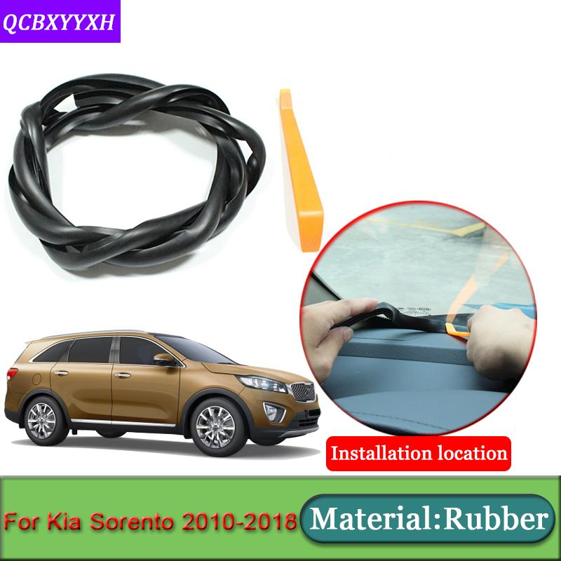 Car-styling For Kia Sorento 2010-2018 Rubber Anti-Noise Soundproof Dustproof Car Dashboard Windshield Sealing Strips Accessories