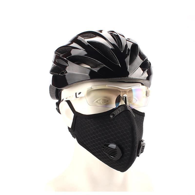 US Stock Cycling Protective Mask With Filter Activated Carbon PM2.5 Anti-Pollution Sport Running Training MTB Road Bike Cycling Mask